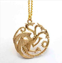 Game Of Thrones Targaryen Necklace Gold Plated Necklaces
