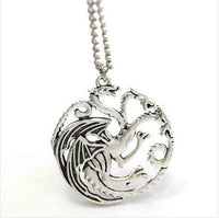 Game Of Thrones Targaryen Necklace Silver Plated Necklaces