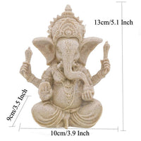 Ganesha Natural Sandstone Statue Decor
