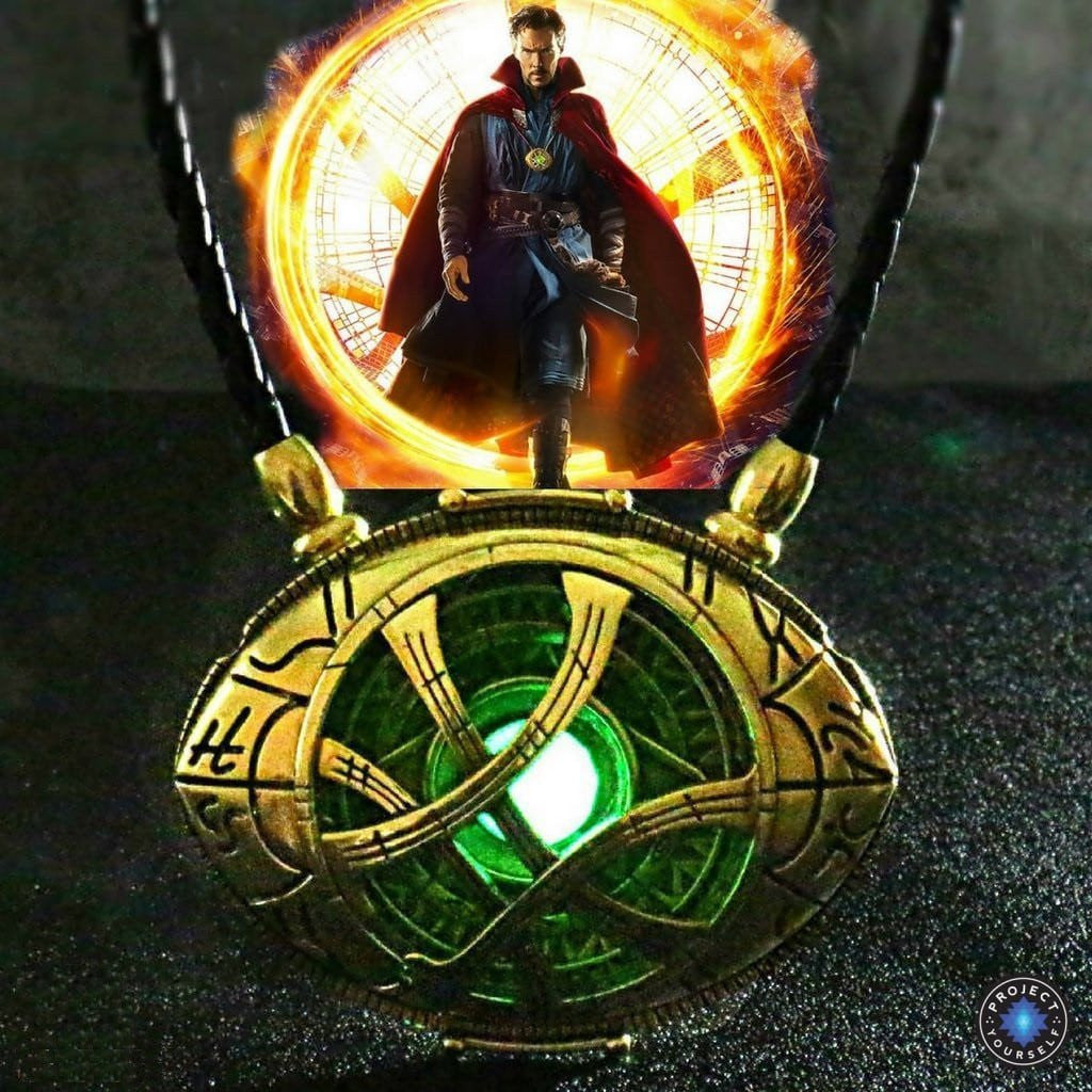 Glowing Eye Of Agamotto Pendant Necklace Project Yourself