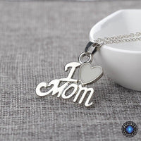 "Glowing Heart ""I❤Mom"" Pendant Necklace Necklace"