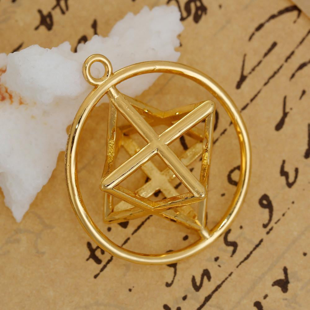 Gold plated merkaba pendant project yourself gold plated merkaba pendant pendant aloadofball Image collections