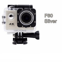 GoPro Hero Style 4K Ultra HD Mini Waterproof Wifi Camera for Extreme Adventures F60 Silver / Standard Camera