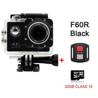 GoPro Hero Style 4K Ultra HD Mini Waterproof Wifi Camera for Extreme Adventures F60R Black 32GB / Standard Camera
