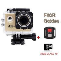 GoPro Hero Style 4K Ultra HD Mini Waterproof Wifi Camera for Extreme Adventures F60R Gold 32GB / Standard Camera