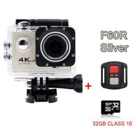 GoPro Hero Style 4K Ultra HD Mini Waterproof Wifi Camera for Extreme Adventures F60R Silver 32GB / Standard Camera