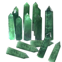 Green Fluorite Crystal Wand Point Crystals