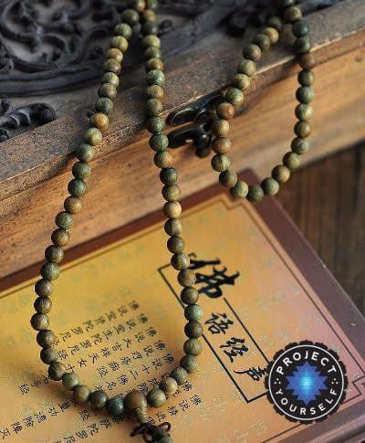 Green Sandalwood 108 Bead Mala (8mm) Mala
