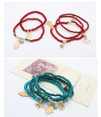 Hamsa and Evil Eye Multilayer Beads Bracelet Bracelet