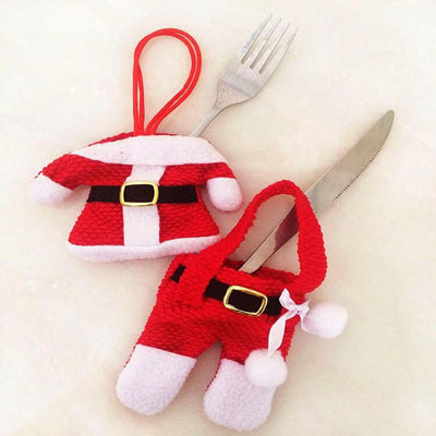 Handmade Christmas Silverware Pockets Christmas