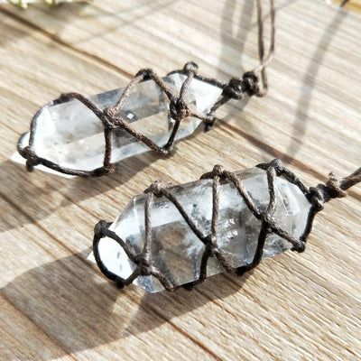Handmade Natural Crystal Point Necklace Necklace