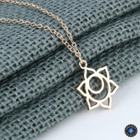 Handmade Second Chakra Sacral Svadhisthana Pendant Necklace 18K Gold Plated Chakra Necklace