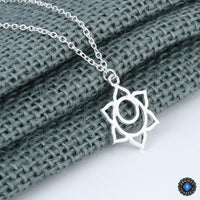 Handmade Second Chakra Sacral Svadhisthana Pendant Necklace Silver Plated Chakra Necklace