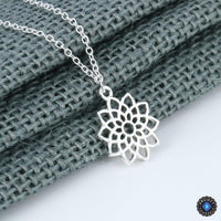 Handmade Seventh Chakra Crown Sahasrara Pendant Necklace Silver Plated Chakra Necklace