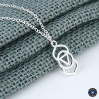 Handmade Third Eye Chakra Ajna Pendant Necklace Silver Plated Chakra Necklace