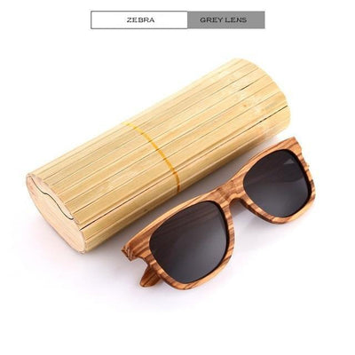 Handmade Wooden Sunglasses Black Zebra Eyewear