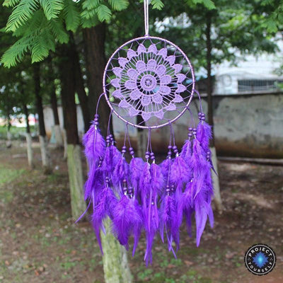 Handmade Woven Dream Catcher Purple Dreamcatchers