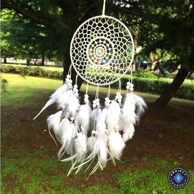 Handmade Woven Dream Catcher White Dreamcatchers