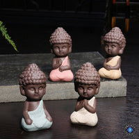Handpainted Ceramic Little Buddha Figurine Buddha Statue