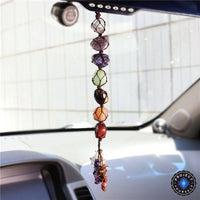 Hanging 7 Chakra Gemstones Decor