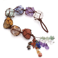 Hanging 7 Chakra Gemstones Rough Stones Decor