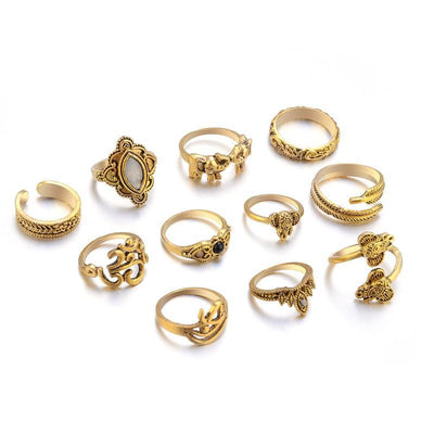 Harmony Ring Set Antique Gold Plated Rings