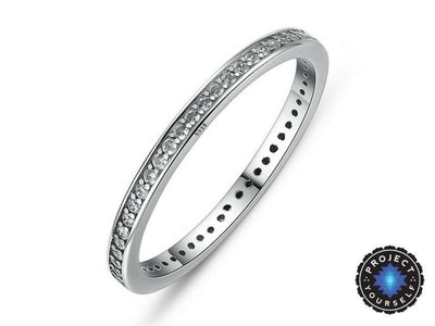 """Heart of a Queen"" Stackable Ring 6 / Crystal Studded Band Rings"