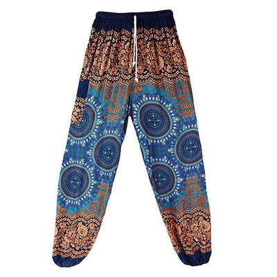High Waist Harem Pants Blue 1 (Drawstring) Clothing