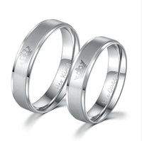 """His Queen"", ""Her King"" Stainless Steel Couple Rings Rings"