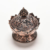 Holy Lotus Incense Burner Bronze Incense Holder