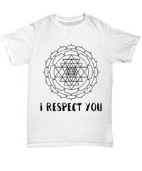 I Respect You Unisex Tee / White / sml Shirt / Hoodie