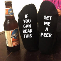"""If You Can Read This Bring Me A Glass of Wine"" Socks Style 10 Clothing"