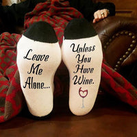 """If You Can Read This Bring Me A Glass of Wine"" Socks Style 11 Clothing"