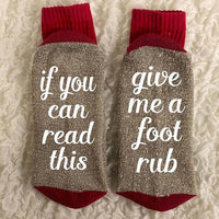 """If You Can Read This Bring Me A Glass of Wine"" Socks Style 14 Clothing"