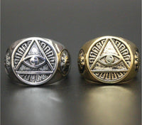 Illuminati Signet Ring Men Men's Ring