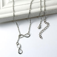 Infinity Lariat Necklace Necklace