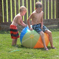 Inflatable Beach Ball Water Sprinkler Toys