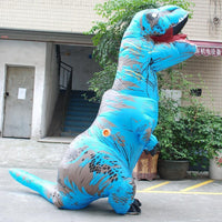 Inflatable T-REX Costume Blue Costume