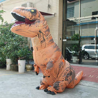 Inflatable T-REX Costume Brown Costume