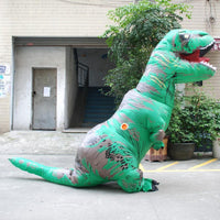 Inflatable T-REX Costume Green Costume