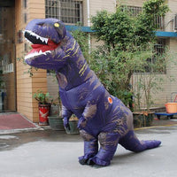 Inflatable T-REX Costume Purple Costume