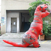 Inflatable T-REX Costume Red Costume