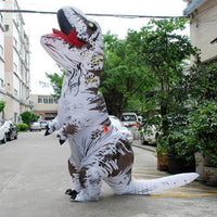 Inflatable T-REX Costume White Costume