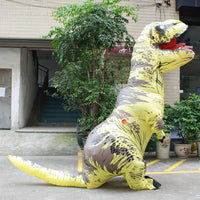 Inflatable T-REX Costume Yellow Costume