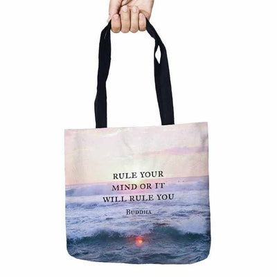 Inspirational Linen Tote Bag Style 4 Bags