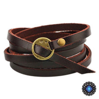 Inspirational Multi-layer Genuine Leather Bracelet Plain Bracelet