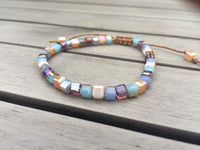 Iridescent Square Crystals Friendship Bracelet Bracelet