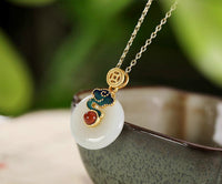 Nature's Peace White Jade Necklace