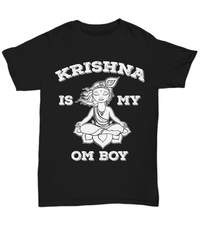 Krishna Is My Om Boy Unisex Tee / Black / sml Shirt / Hoodie