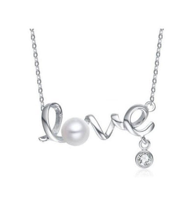 Language of Love Necklace Silver Necklace